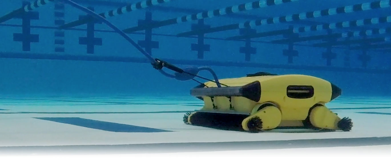 Dolphin Wave 300 Commercial Robotic Pool Cleaner Underwater