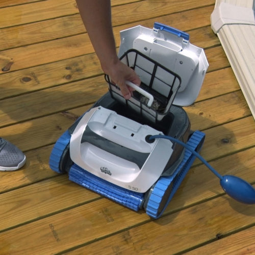 Dolphin S50 Robotic Pool Cleaner Easy Filter Cleaning