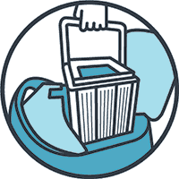 Top Load Filter Basket Icon