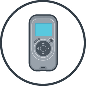Commercial Remote Control Setup of Parameters and Cleaning Programs Icon