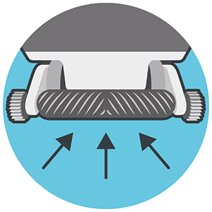 Commercial Dual Direction Brush Icon