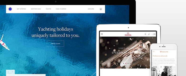 luxury website examples