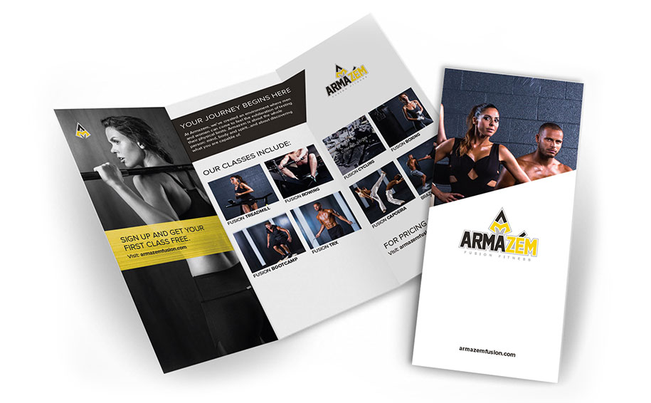 Gym Marketing Materials for Armazem Fusion Fitness