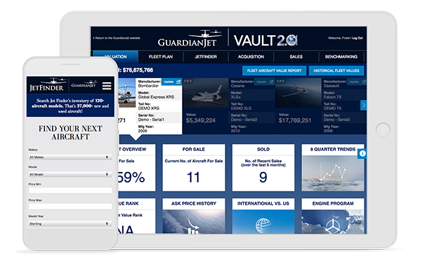 Mediaboom partnered with Guardian Jet for their aviation marketing needs.