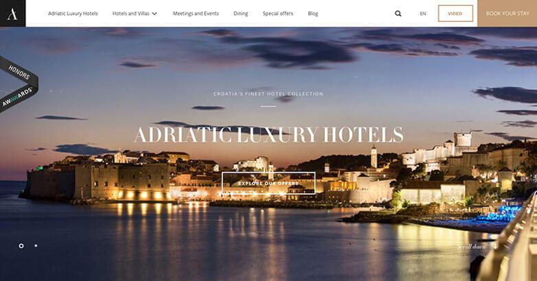 Adriatic Luxury Hotel Website