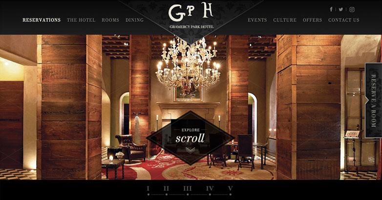 Gramercy Park Hotel Luxury Website