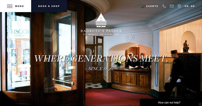 Luxury Hotel Design for Badrutts Website