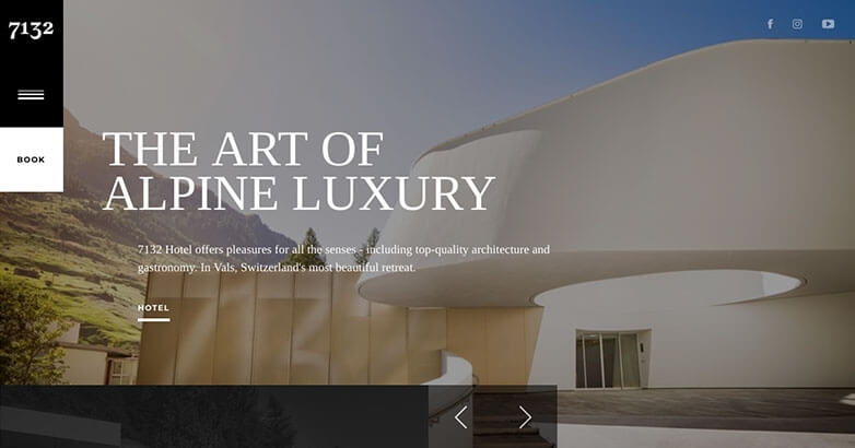 Hotel Web Design for Luxury Hotel 7132
