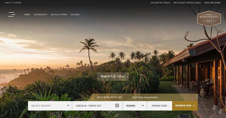 Hotel Website Design for Luxury Hotel Resplendent