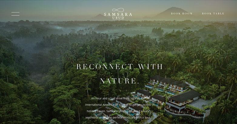 Samsara Ubud Luxury Website