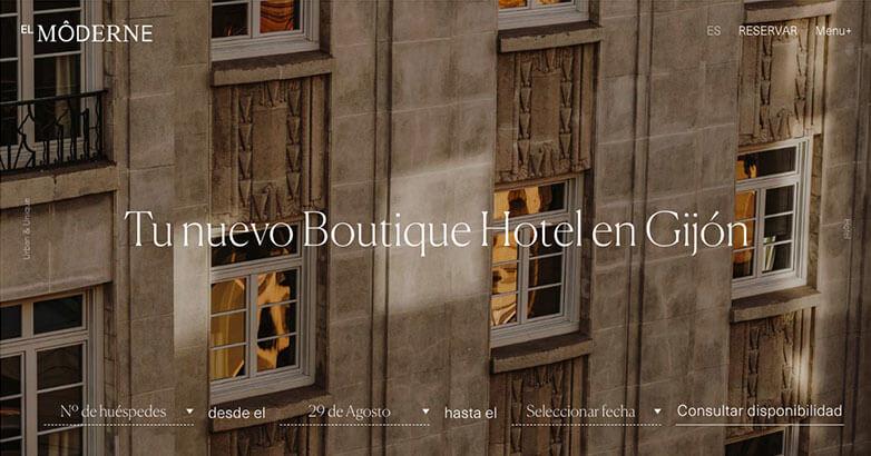 Luxury Website Design for El Moderne Hotel