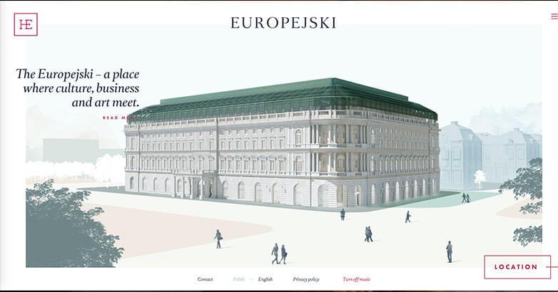 Europejski Hotel Website Design