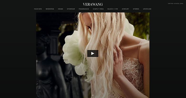 Luxury Design for Verawang website