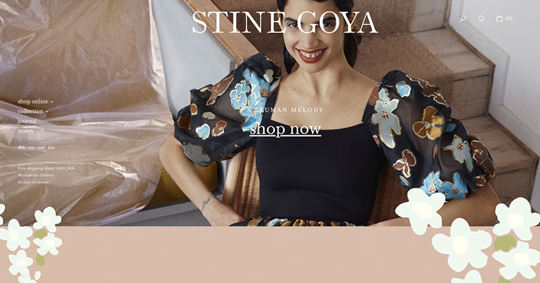 Fashion Website Design Stine Goya