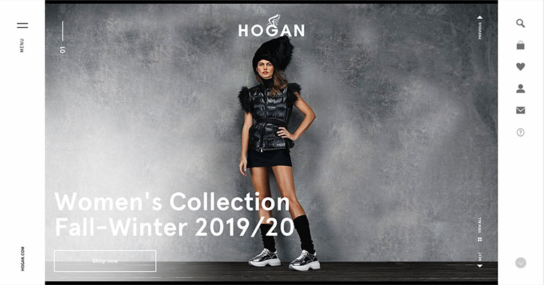 Hogan Luxury Fashion Website