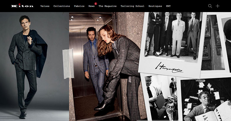 Luxury Fashoion Website Design for Kiton Brand
