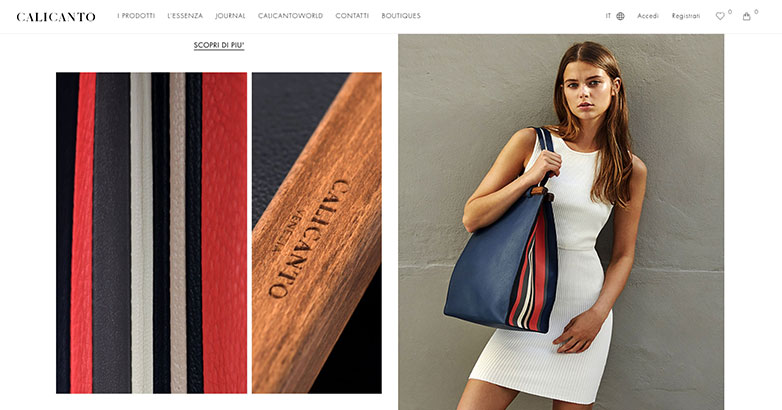 Website Design for Luxury Fashion Brand Calicanto