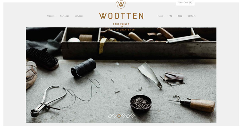 Wooteen luxury web design