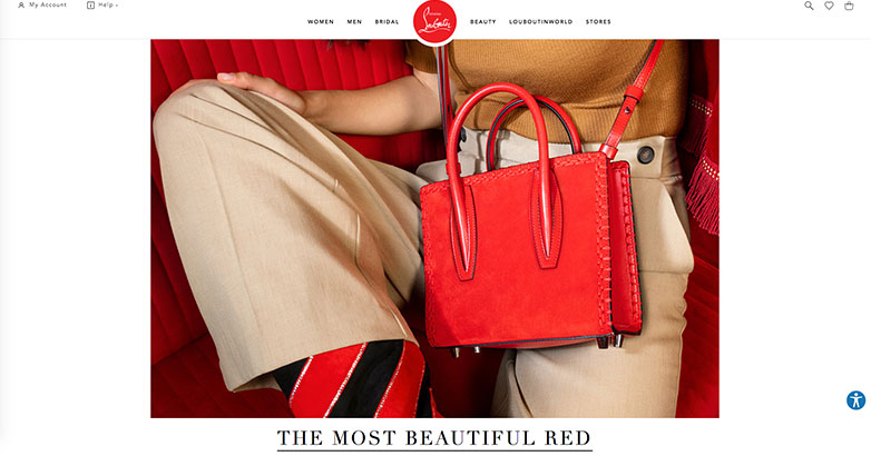 Christian Louboutin website design