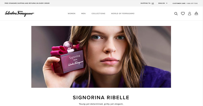salvatore ferragamo luxury website design