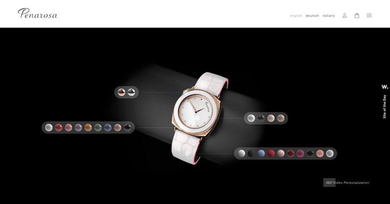 luxury website design for penarosa watches