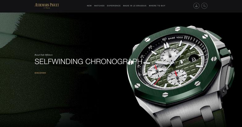 luxury website design for watch