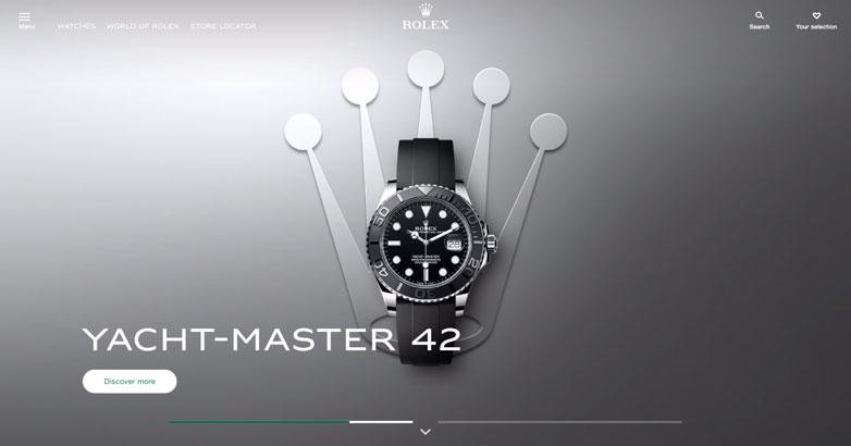 rolex watches luxury website design