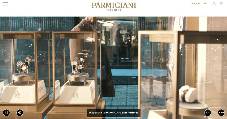 luxury watch brand website design