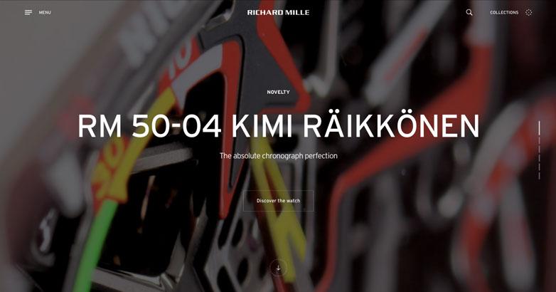 luxury watch website designs for richard mille