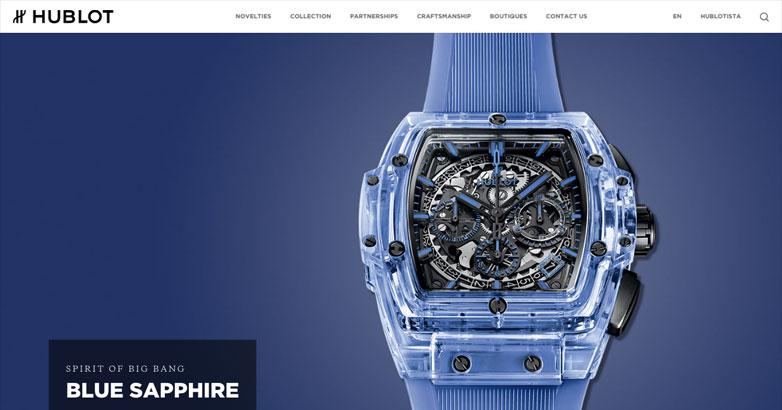 hublot luxury watch website design