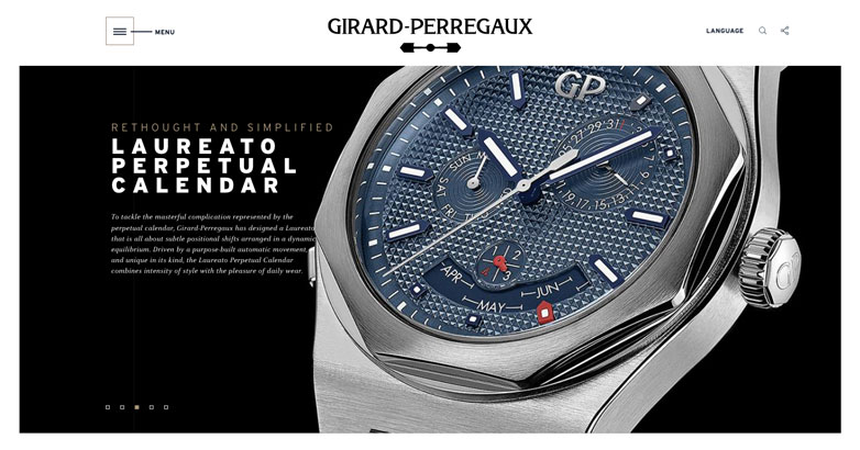 website design for luxury watch
