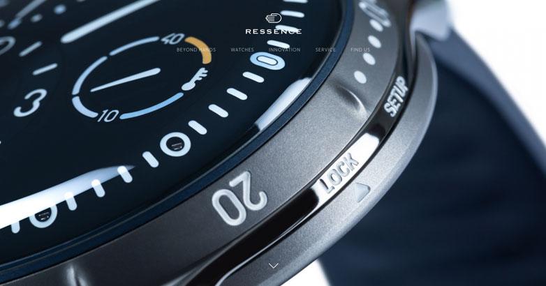 ressence luxury watch website designs
