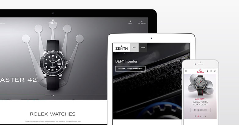 luxury watch website design