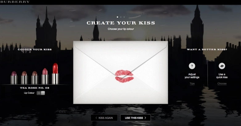 content marketing for burberry luxury brand