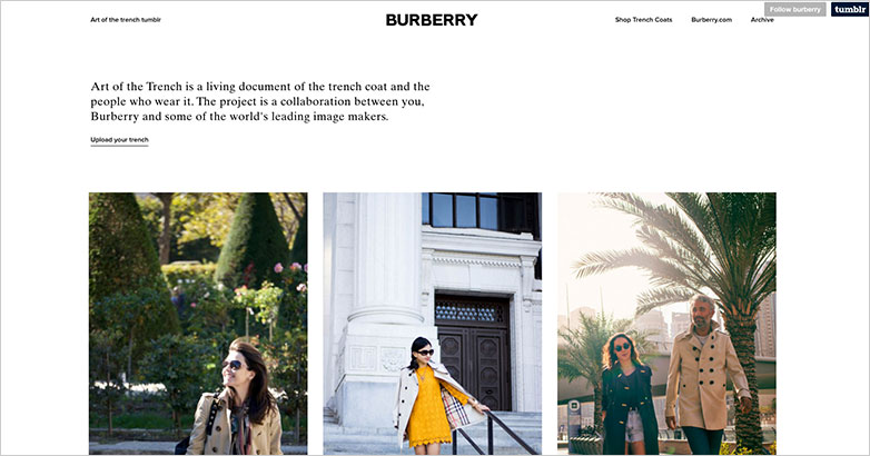 burberry luxury brand content marketing
