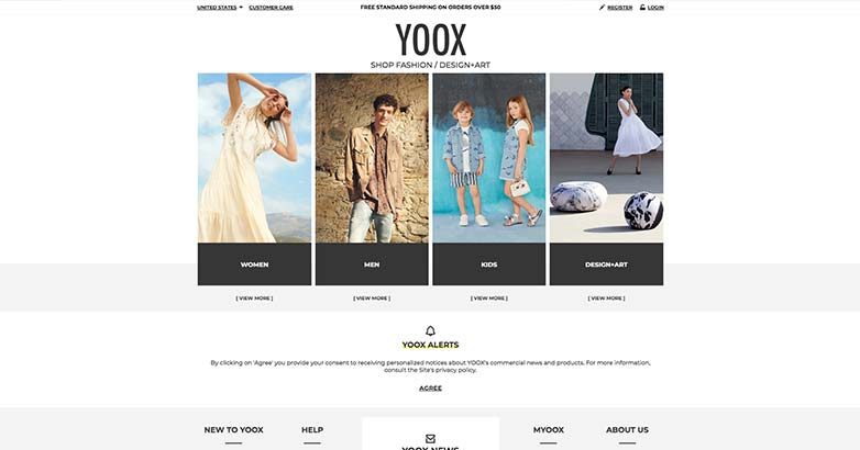 best shop for luxury retail yoox