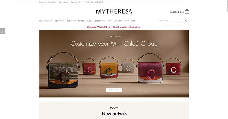 shop mytheresa luxury website