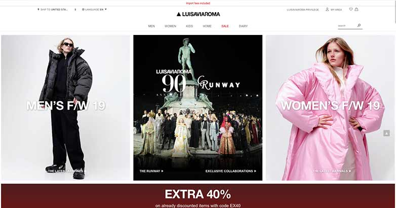 luisa viaroma best online shop