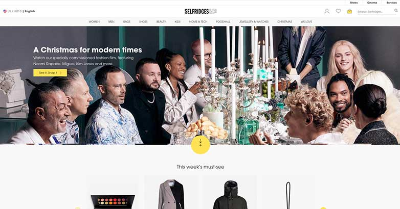 selfridges online shop