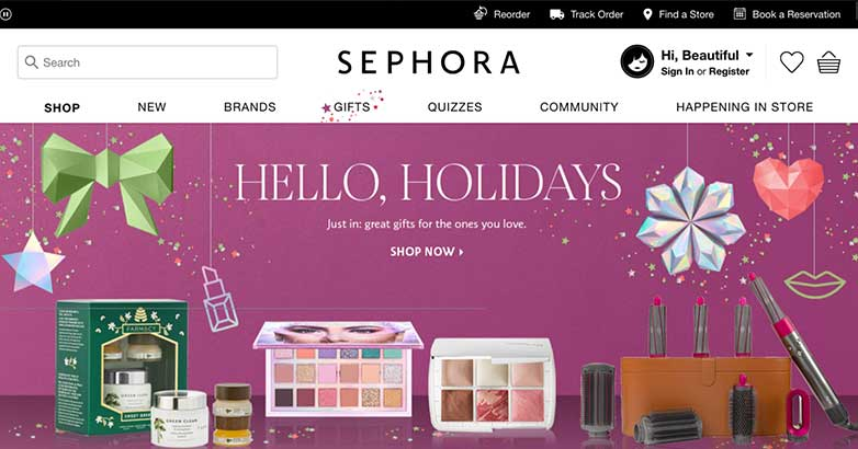 sephora luxury shopping online