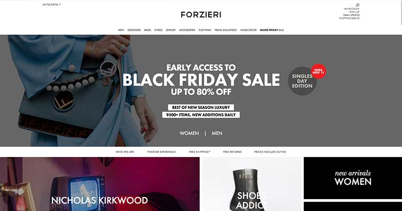 the best luxury online shopping from forzieri