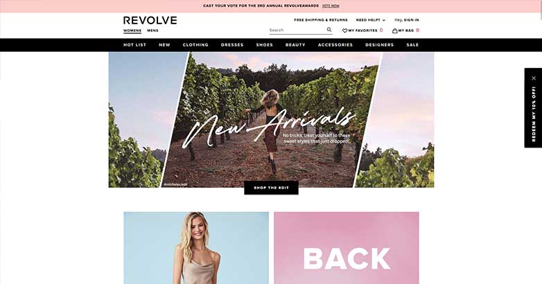 the best online shopping from revolve