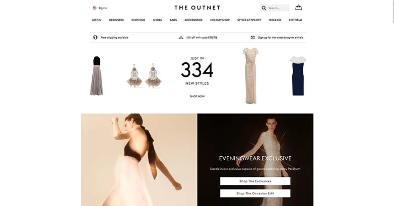 the outnet luxury shop online