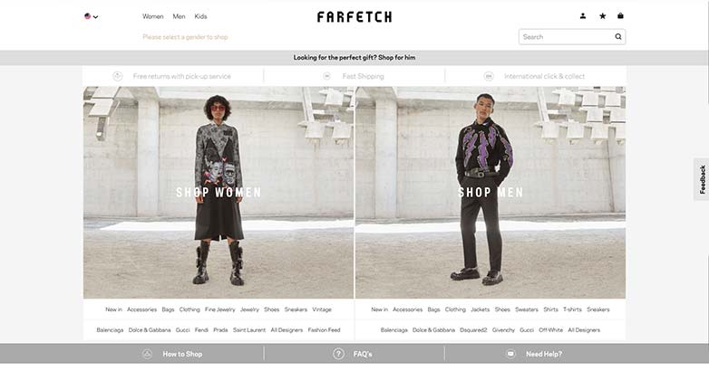 farfetch website for online shopping