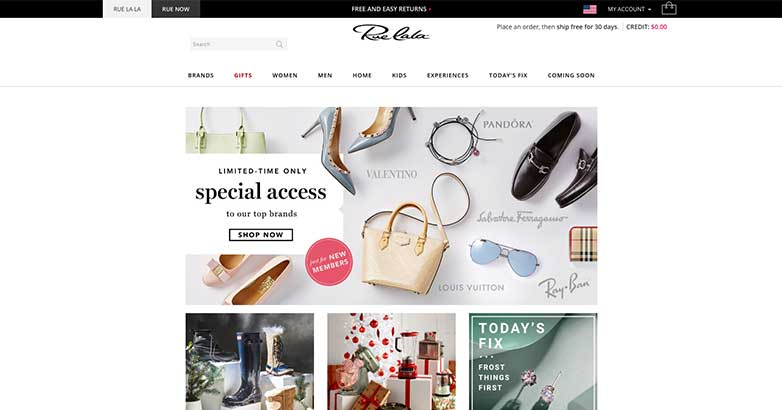 rue la la online shopping site for luxury brands