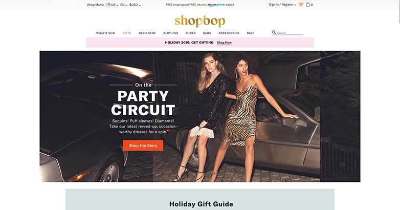 shop bop online luxury shop
