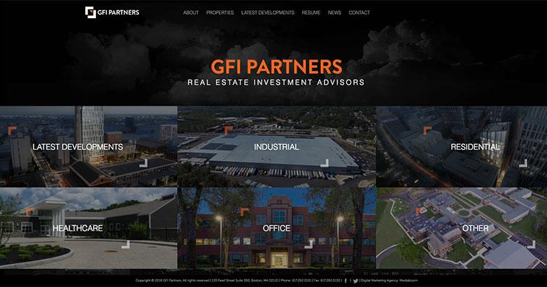 construction website for gfi partners