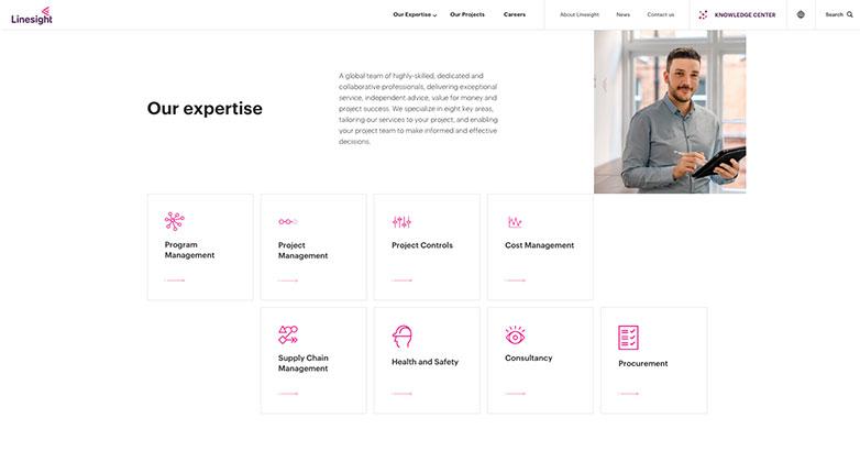 linesight construction website