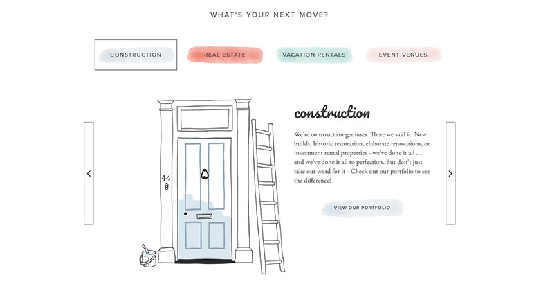 construction website for luxury simplified
