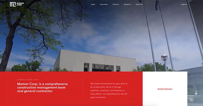 maman group construction websites